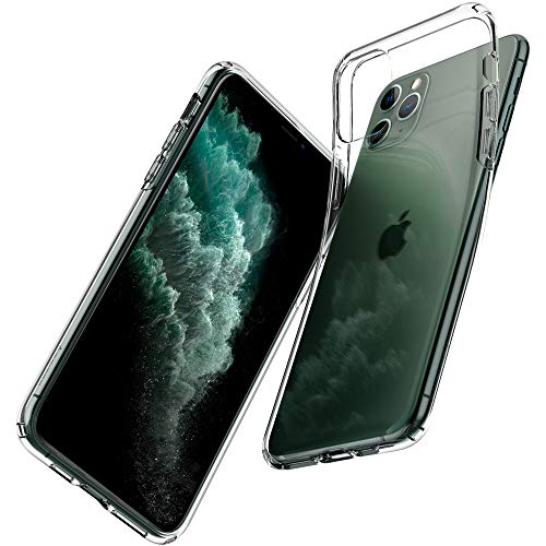 Spigen Liquid Crystal Kompatibel mit iPhone 11 Pro Hülle, [Anti-Gelb] Transparent TPU Silikon Handyhülle für iPhone 11 Pro Case Crystal Clear 077CS27227