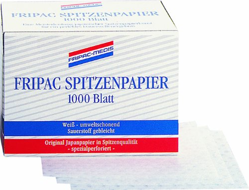 Fripac-Medis Professional Spitzenpapier Blattgröße 75 x 55 mm, 1000 Blatt, weiß