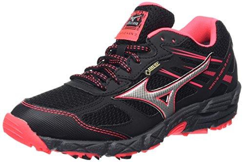 MizunoWave Kien 3 G-tx - Zapatillas de running mujer, color Negro (Black/Silver/Diva Pink), talla 4 UK (36 1/2 EU)
