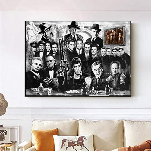 ganlanshu Rahmenlose Malerei Plakate und Drucke Leinwand Kunst Pate Film dekorieren für Wohnzimmer homeCGQ7831 21X35cm