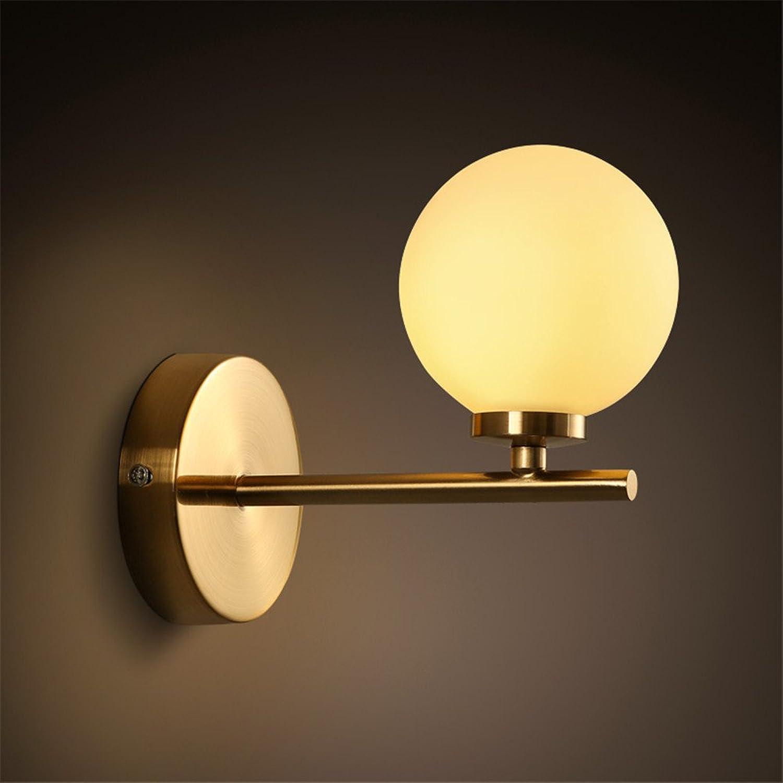 Modern LED Wandleuchte Kreative Wandlampe des stilvollen Wohnungswand-kugelfrmigen Schlafzimmers des bernsteinstudienstudiums Vintage Retro Café Loft Bar Flurlampe, Wandlampe Upaus Aluminium für.