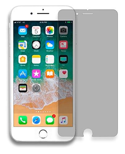 MyGadget Blickschutz Panzerglas Folie für Apple iPhone 7 Plus 8 Plus - Hüllen kompatibel Anti Spy 9H Glasfolie - Sichtschutz Privacy Protector Schutzfolie
