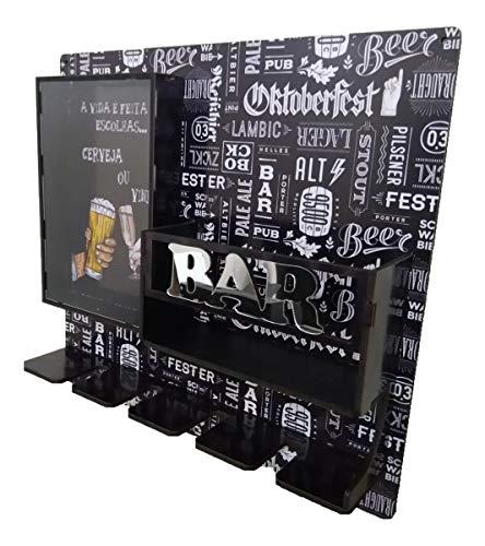 Bar Adega de Parede com Porta Taças e Visor