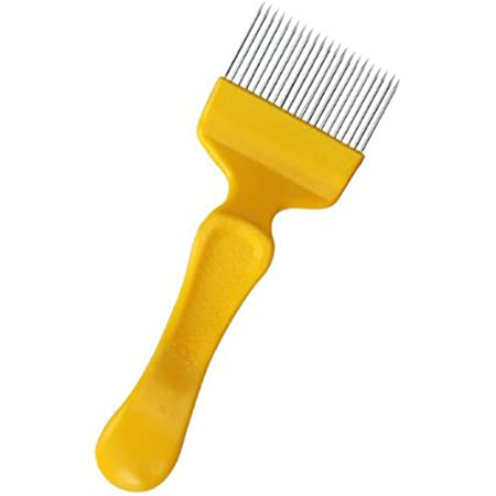 HONBAY Bee Keeping Uncapping Fork with 18 Tines Stainless Steel Bee Keeping Tool