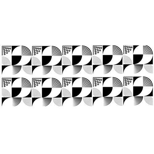 Kalaokei 10 Stück Fliesen Wandaufkleber Wasserdichte Rutschfeste Küche Esszimmer DIY Boden Aufkleber Aufkleber Pack Aufkleber Aufkleber Für Laptop, Wasserflaschen, Gepäck, Skateboard C.None