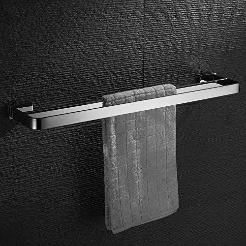 HomeT Handtuchhalter Doppelt Verchromt Massives SUS 304 Edelstahl Hochglanzpoliert, Stilvoll zur Wandmontage Handtuchregal , Chrom