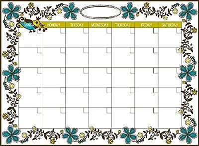 Wall Pops WPE96833 Dry Erase Peel & Stick Dry Erase Monthly Calendar