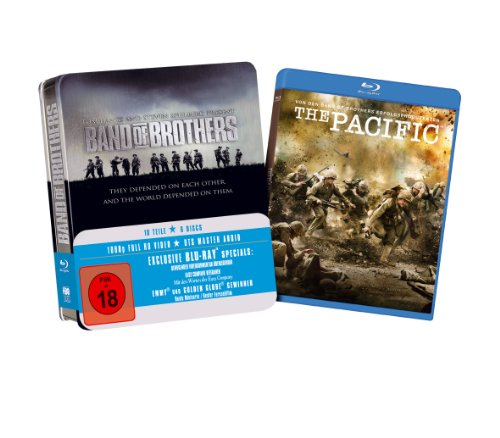 Band Of Brothers (Tin-Box, inkl. erster Folge von The Pacific exklusiv bei Amazon.de) [Blu-ray]