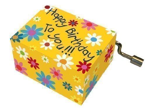 Fridolin 58406 Musikbox Spieluhr Happy Birthday mit Blumen