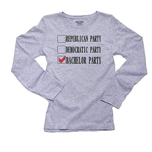 Hollywood Thread Awesome Fun Bachelor Party Check List Women's Long Sleeve T-Shirt
