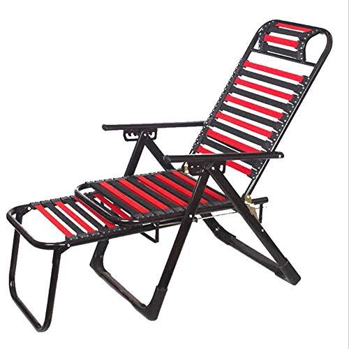 Chaise Pliante Fauteuil élastique Élastique Réglable Chaise Respirant Zéro Gravity Lounge Chair for Recliners Patio Porteur 220 Kg