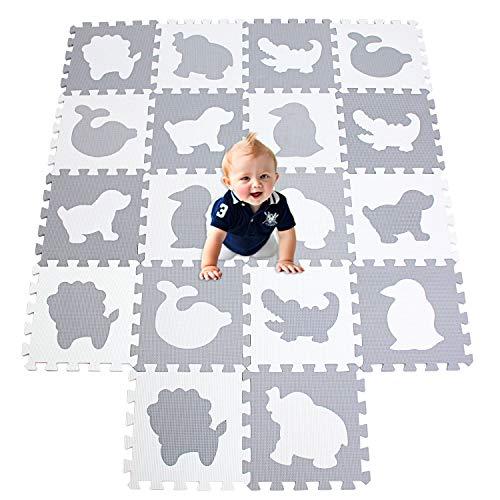 XMTMMD Tappeto Puzzle per Bambini in Soffice Schiuma Eva Tappetino Gioco per la Cameretta Testato Bambini Tappetino Gioco Colorato Neonati 18pcs 30cm*30cm*1cm AMP051G301018BH