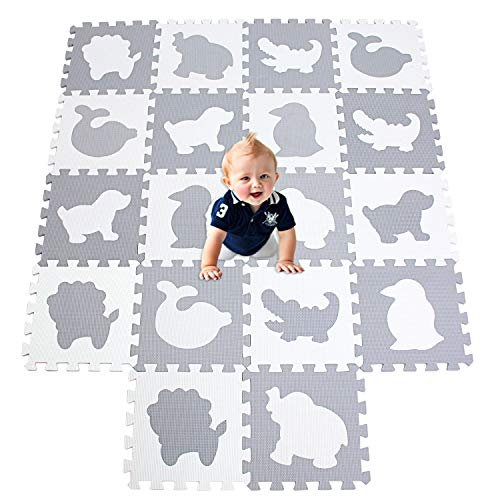 XMTMMD Suelo para Ninos Y Infantiles EVA Puzzle ColchonetaPara Ninos Y Infantiles EVA Puzzle Colchonetas Puzzle Rompecabezas para Cubrir el Suelo 18 Piezas Play Mat Set AMZP051G301018BH