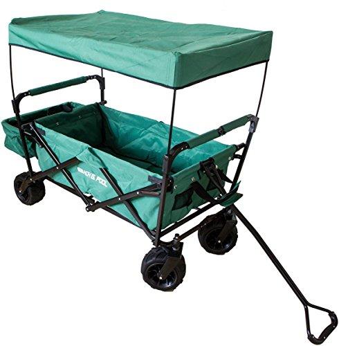 mächtig Klappschubkarre, Geländewagen, Schubkarre mit Dach und zusätzlichen Abteilen…