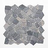 Mosaico baldosas de mármol negro piedra natural rotura Ciot Neromarquina MOS44-30-120