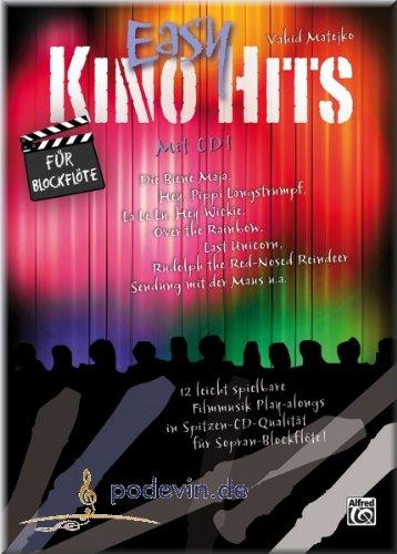 Easy Kino Hits für Blockflöte - Blockflöte Noten [Musiknoten]