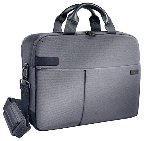 Leitz Business Laptop Tasche 15.6 Zoll, Geeignet für Laptop oder Ultrabook, Smart Traveller, Complete, Silber, 60160084