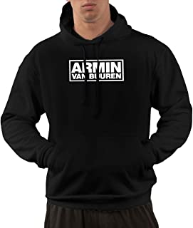 Armin Van Buuren Mens Classic Comfort Hoodie Sweatshirt Black Soft Fashion Cool