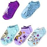 Disney Frozen Girls 5 Pack No Show Socks, Blue Sherbet - Frozen 2, Fits Sock Size 6-8.5 Fits Shoe Size 7.5-3.5