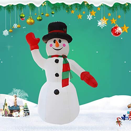 2.4Meters / 8 Feet Riesiger Aufblasbarer Schneemann, Glühend Weihnachtsaußendekoration Mit LED-Licht, Weihnachten Inflatables Spielzeug in Yard Garten