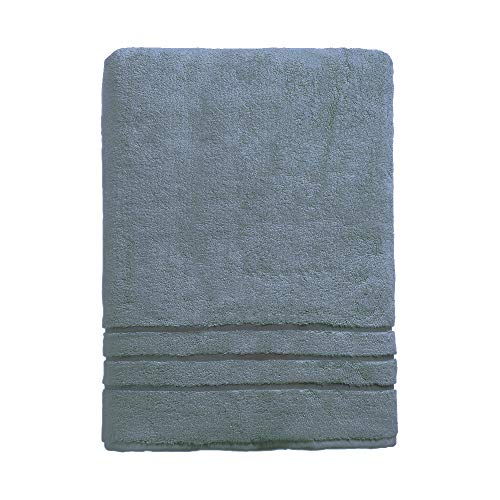 Cariloha 600 GSM Bamboo & Turkish Cotton Bath Towel - Odor Resistant, Highly Absorbent - Includes 1 Towel - 1-Year Limited Quality Warranty - Blue Lagoon