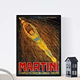 Nacnic Vintage Poster Vintage Anzeige Martini & Rossi. A3