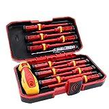 Destornillador con aislamiento electricista 1000V Set magnético de reparación puntas intercambiables Herramientas Kit de herramientas de la caja 13PCS industriales