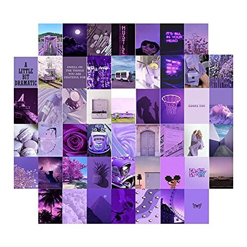 50 PCS Postales Photo Pegatina de Pared Kit de Collage Exqusite Estética Pósteres Dormitorio Decoración para la graduación Adorno del Día Memorial (Color : 50 Pcs)
