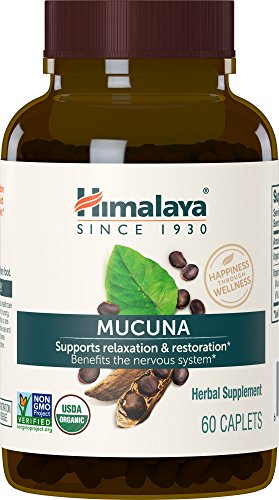 Himalaya Organic Mucuna Pruriens / Kapikachhu, Equivalent to 3,706 of Mucuna Pruriens Powder for Calm & Relaxation 60 Count (Pack of 1) Caplets