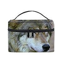 動物のオオカミコスメポーチ 化粧収納バッグ レディース 携帯便利 旅行 誕生日 プレゼント