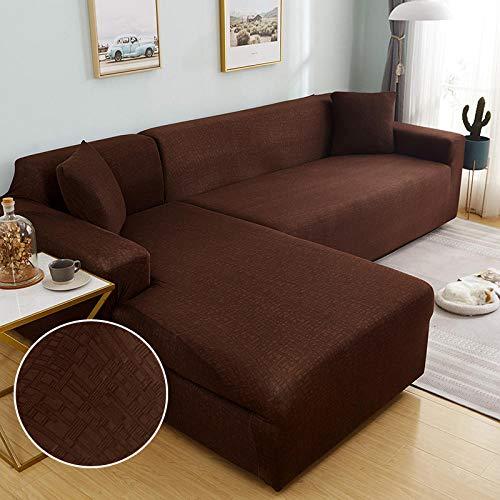 B/H Fundas de sofá de Esquina,Funda de sofá elástica para Sala de Estar, Esquina, en Forma de L, sofá Longue Slipcover-9_2seater_and_3seater,Elastano elástico Funda de sofá