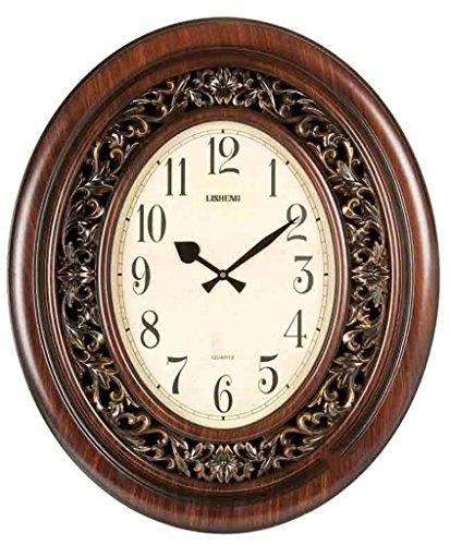 COCO Zegary Ścienne Salon Wysokiej Klasy Zegär Ścienne Drewno Zegary Ścienne Kwarc Niemy Zegary Ścienne HOME ( Color : 1 )