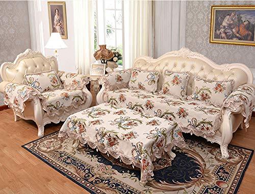 HXTSWGS Copridivano, Copridivano componibile Trapuntato, Love Seat reclinabile in Pelle a Forma di L, Copri Schienale per bracciolo-Bianco_70 * 70 cm