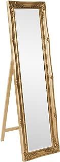 Howard Elliott 57027 Queen Ann Mirror, Standing, Antique Gold Leaf