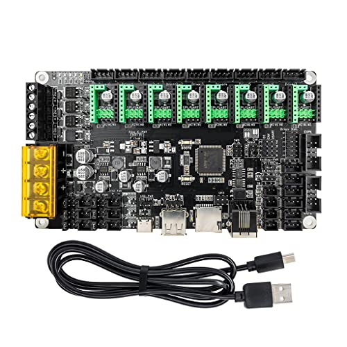 Monster8 tablero de control 32Bit 168Mhz para impresoras 3D piezas 8 ejes para Voron Marlin impresora Monster 8 V1.0 placa base Accesorios de alta calidad