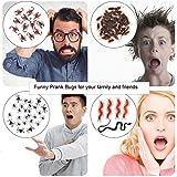 Neusky 160 Stücke Pflastik-Tierchen, Spinnen, Maden und Fliegen für Halloween, Karneval, Fastnacht, Fasching oder Thema Festival, Party und Dekoration (Halloween, 160Stück) - 2