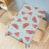 XXDD Mantel Creativo con Estampado de Frutas, Mantel Rectangular para Mesa de Comedor, Mantel Individual para Ropa, decoración Impermeable para el hogar A7, 140x140cm