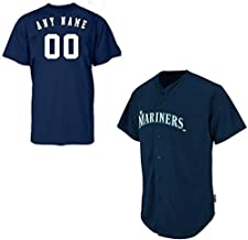 Adult 2XL Seattle Mariners CUSTOMIZED Major League Baseball Cool-Base Replica MLB Jersey