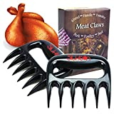 Silkbon Meat Claws, Best Pulled Pork Shredder, Meat Shredder Claws, Bear Claws Paws BBQ Smoker Shredding Non-Slip Curved Claw Handles for Lifting, Serving Grilling Chicken, Turkey Meat Tenderizer