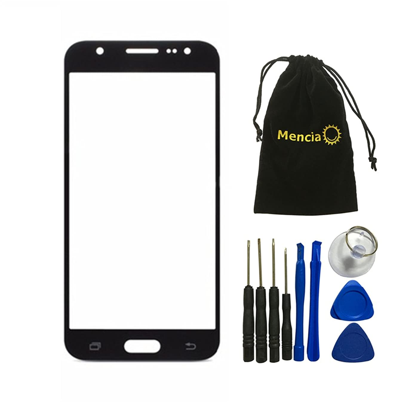 Mencia Glass Lens Screen Replacement For Samsung Galaxy J5 J500 J500F J5008 With Opening Tools(Black)
