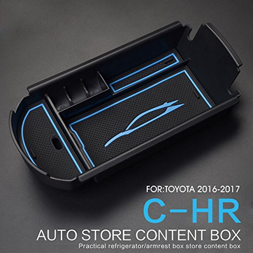 LFOTPP Mittelkonsole Aufbewahrungsbox für C-HR, CHR Armlehne Organizer Mittelarmlehne Handschuhfach, Tray Storage Box Auto Zubehör