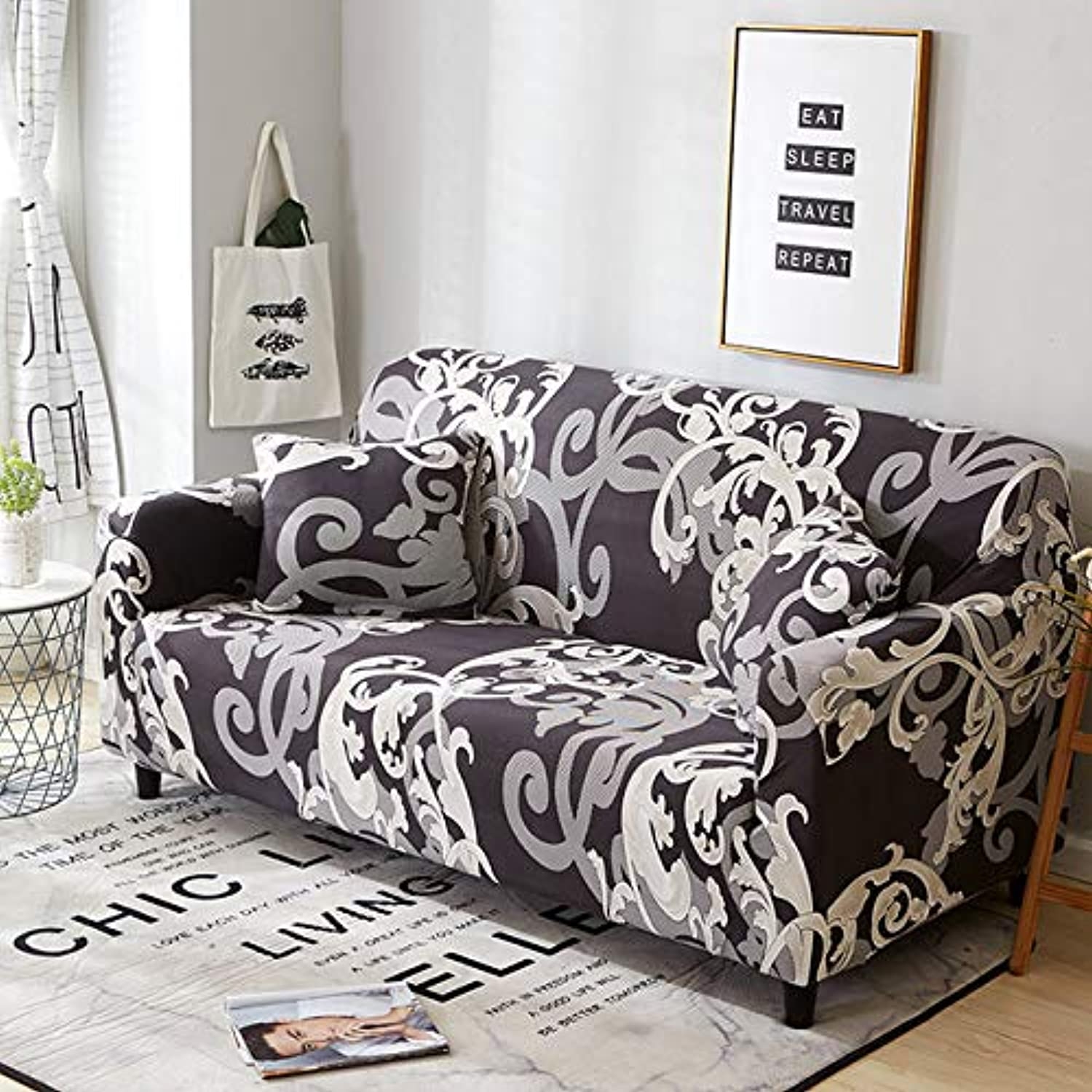 Stretch Sofa Cover All-Inclusive Elastic Seat Couch Cover for Living Room Furniture Slipcovers fundas de sillones envio Gratis   color 9, 2-Seater 145-185cm