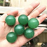 KDHJY Bola Hermoso Color Verde aventurina Jade Cuarzo Esfera de Cristal Ball + Decoración Stand Piedras y Cristales 1-2Piece Decorativa (Color : 24-26MM, Size : 2PCS)