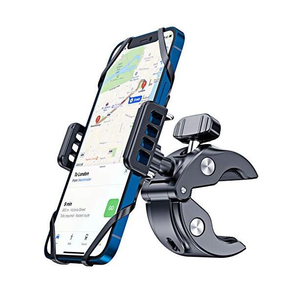 CTYBB Bike & Motorcycle Phone Mount, Super Stable Phone Bike Mount with Universal...