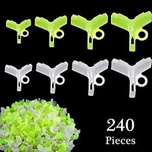 Gejoy 240 Pieces Fishing Hook Bonnets Fishing Treble Hook Cover Hook Safety Cap Protector, 4 Sizes