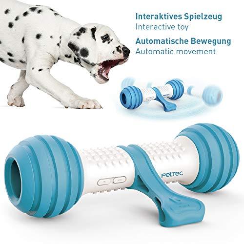 Interactieve spelbotten van PetTec | hondenspeelgoed | werkt op batterijen, voor honden, katten en puppy's | bijtvast en robuust met automatische controle (speelbot)