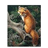 Hoseten Digital Painting Fox DIY Oil Painting Set 40*50CM Canvas Frameless Home Decoration Acrylic Modern Art Painting.