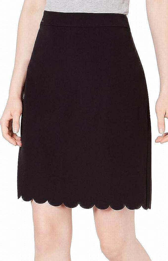 Maison Jules   Scallop Hem Skirt   Deep Black   2