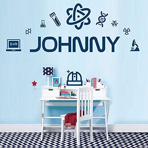 JXND Vinyl Kunst Wandaufkleber für Wissenschaft, Wissenschaftler, Labors, Mikroskope, Dekoration Kinderzimmer Wohnzimmer Schlafzimmer 115x42cm