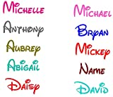PakedDeals Custom Name Decal Sticker Disney Font Personalized
